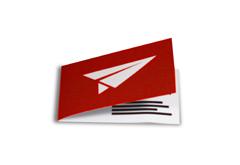 Klapp- Visitenkarten