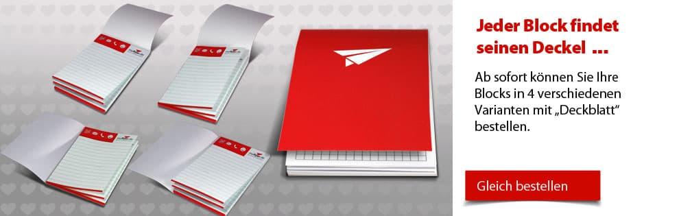 Block mit Umschlag Block mit Umschlag
